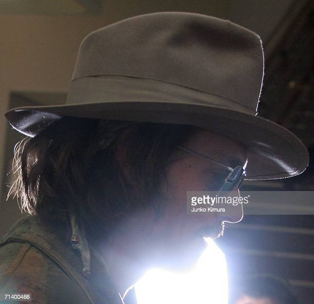 Johnny Depp arrives at the New Tokyo International Airport on July 9 2006 in Narita Chiba Prefecture Japan Depp is in Japan to attend the Japan...