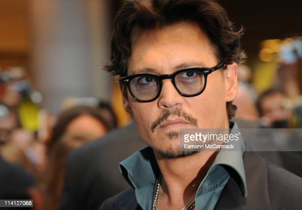 Johnny Depp arrives at the UK premiere of 'Pirates Of The Caribbean On Stranger Tides' at Vue Westfield on May 12 2011 in London England