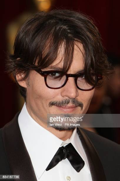 Johnny Depp arrives for the 80th Academy Awards at the Kodak Theatre Los Angeles