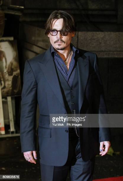 Johnny Depp arriving for the European Premiere of The Rum Diary at Odeon Kensington in west London