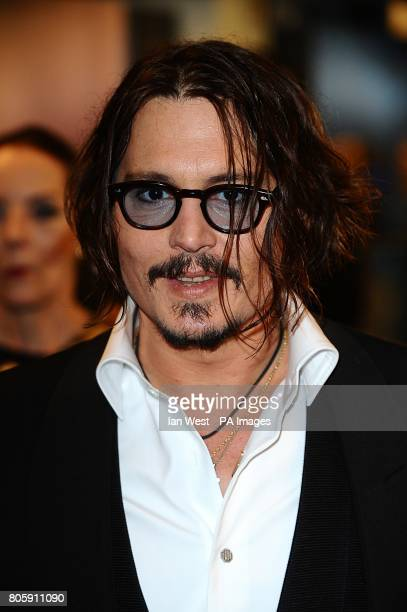 Johnny Depp arriving for the Royal world premiere of Alice in Wonderland at the Odeon Leicester Square London