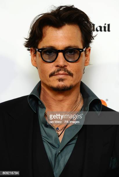 Johnny Depp arriving for the UK film premiere of Pirates of the Caribbean On Stranger Tides at the Vue Westfield London