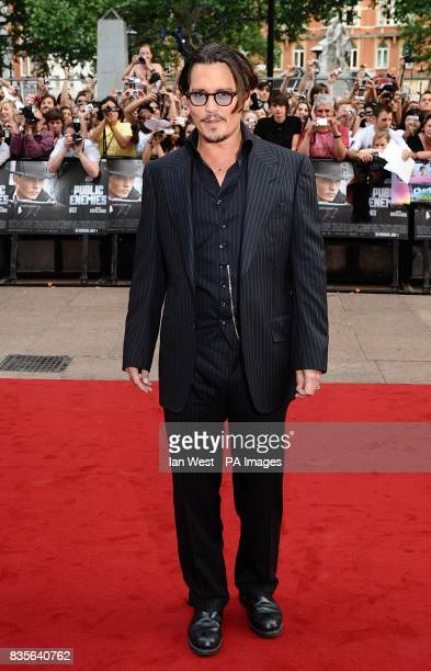 Johnny Depp arriving forr the European premiere of Public Enemies at the Empire Leicester Square London