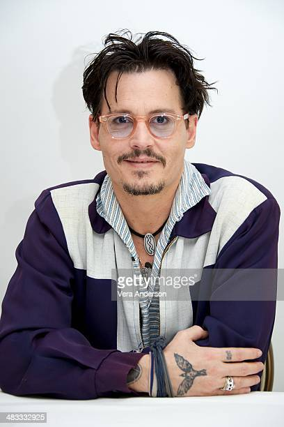Johnny Depp at the 'Transcendence' Press Conference at the Four Seasons Hotel on April 6 2014 in Beverly Hills California