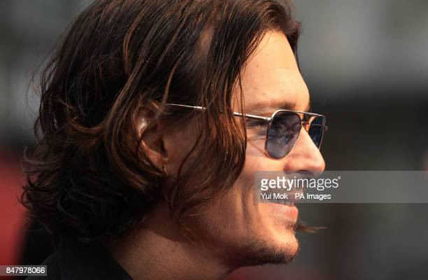 Johnny Depp attending the UK film premiere of Dark Shadows at the Empire Leicester Square central London