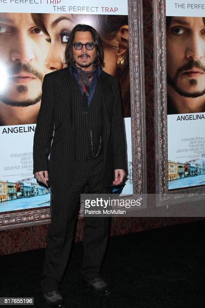 Johnny Depp attends COLUMBIA PICTURES Presents the World Premiere of THE TOURIST at The Ziegfeld Theatre on December 06 2010 in New York City