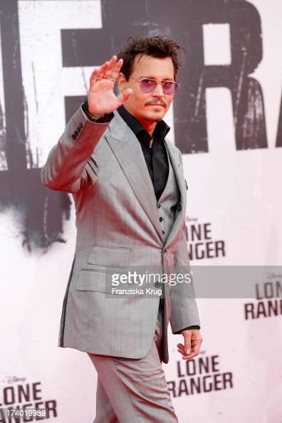Johnny Depp attends 'Lone Ranger' Berlin Premiere at Sony Centre on July 19 2013 in Berlin Germany