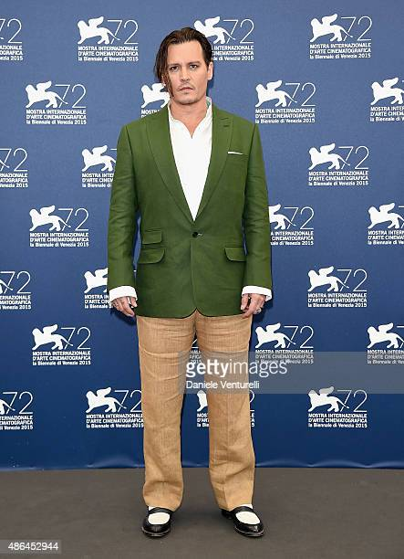 Johnny Depp attends the 'Black Mass' photocall during the 72nd Venice Film Festival on September 4 2015 in Venice Italy