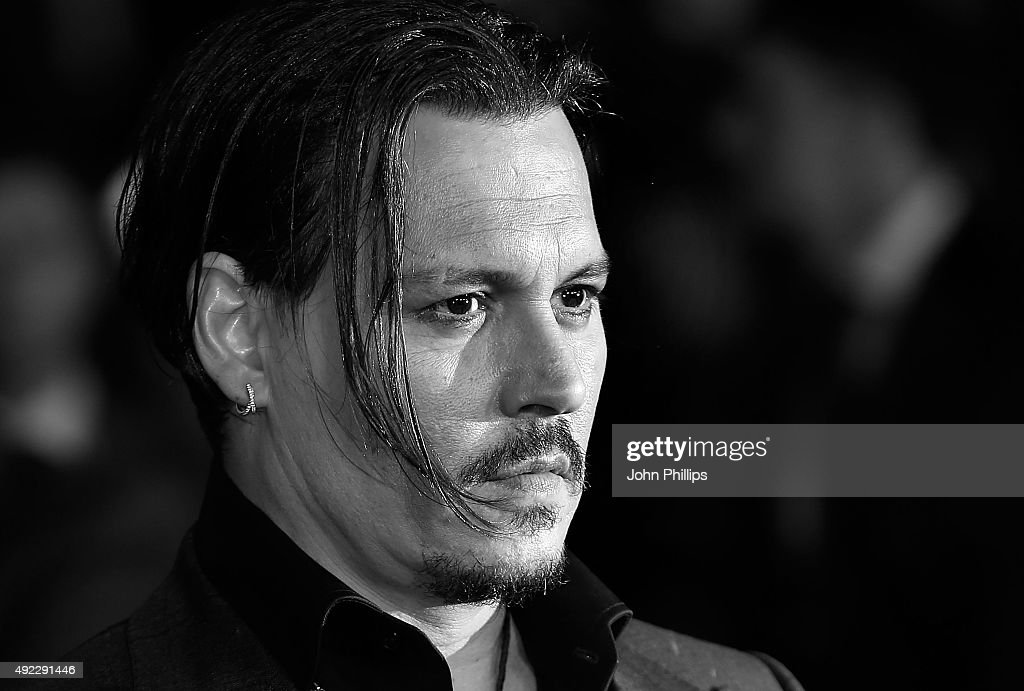 Johnny Depp attends the 'Black Mass' Virgin Atlantic Gala screening during the BFI London Film Festival, at Odeon Leicester Square on October 11, 2015 in London, England.