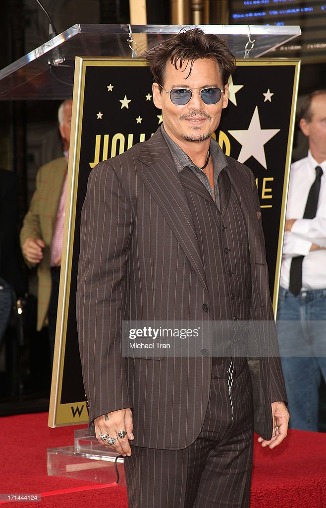 <a gi-track='captionPersonalityLinkClicked' href=/galleries/search?phrase=Johnny+Depp&family=editorial&specificpeople=202150 ng-click='$event.stopPropagation()'>Johnny Depp</a> attends the ceremony honoring Jerry Bruckheimer with a Star on The Hollywood Walk of Fame held in front of El Capitan Theatre on June 24, 2013 in Hollywood, California.