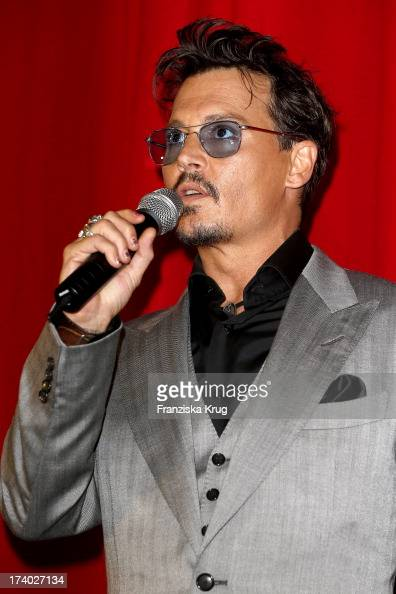 Johnny Depp attends the 'Lone Ranger' Berlin Premiere at Sony Centre on July 19 2013 in Berlin Germany