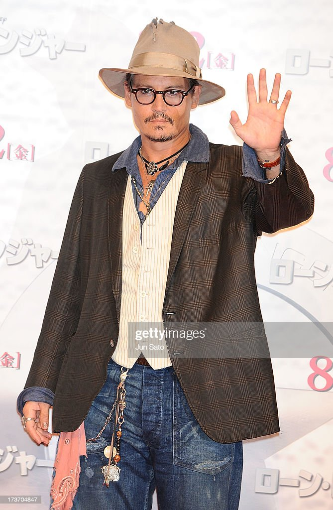 Johnny Depp attends 'The Lone Ranger' photo call at the Park Hyatt Hotel on July 17, 2013 in Tokyo, Japan.