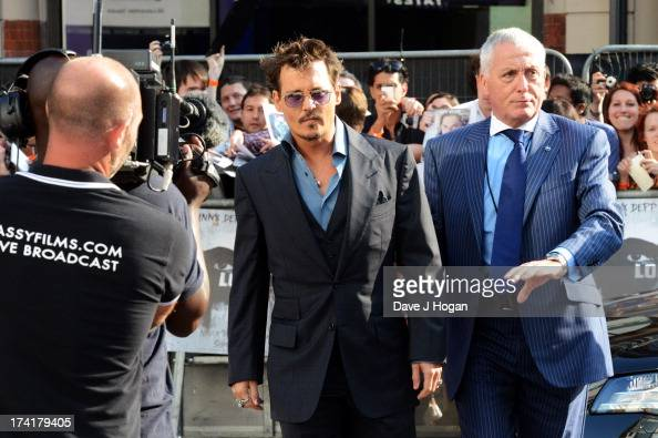 Johnny Depp attends the UK premiere of 'The Lone Ranger' at The Odeon Leicester Square on July 21 2013 in London England