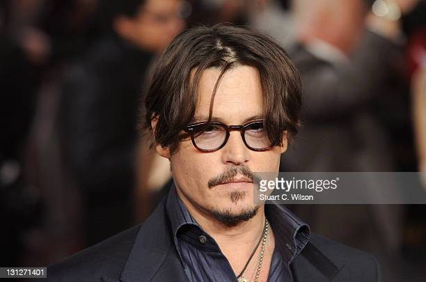 Johnny Depp attends The UK Premiere of 'The Rum Diary' at on November 3 2011 in London England