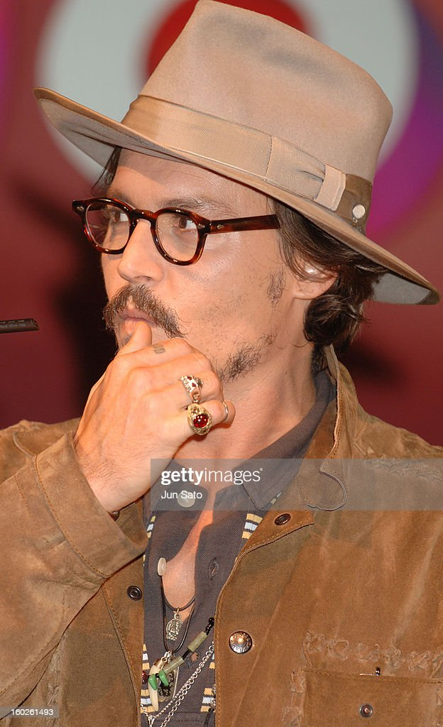 Johnny Depp during Charlie and the Chocolate Factory Tokyo Press Conference at Imperial Hotel in Tokyo Japan