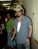 Johnny Depp during Nickelodeon's 18th Annual Kids Choice Awards Backstage and Audience at Pauley Pavillion in Los Angeles California United States