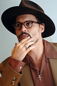 Johnny Depp during 'The Libertine' Press Conference with Johnny Depp and John Malkovich at Four Season's Hotel in Beverly Hills California United...