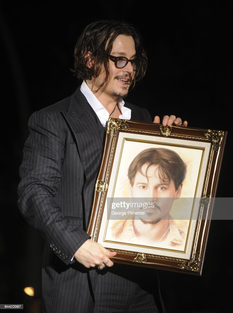 Johnny Depp during the tribute and presentation of the prestigious Career Achievement Award at the 6th Annual Bahamas Film Festival at the Balmoral Club on December 13, 2009 in Nassau, Bahamas.