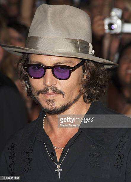 Johnny Depp during World Premiere of Walt Disney Pictures' 'Pirates of the Caribbean Dead Man's Chest' Arrivals at Disneyland in Anaheim California...