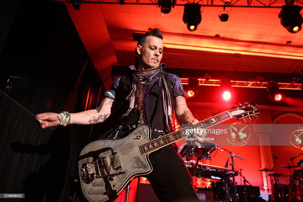 Johnny Depp from The Hollywood Vampires performs at the 2016 Starkey Hearing Foundation 'So the World May Hear' awards gala at the St Paul...
