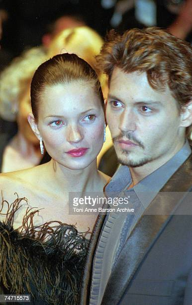 Johnny Depp Kate Moss in Cannes France