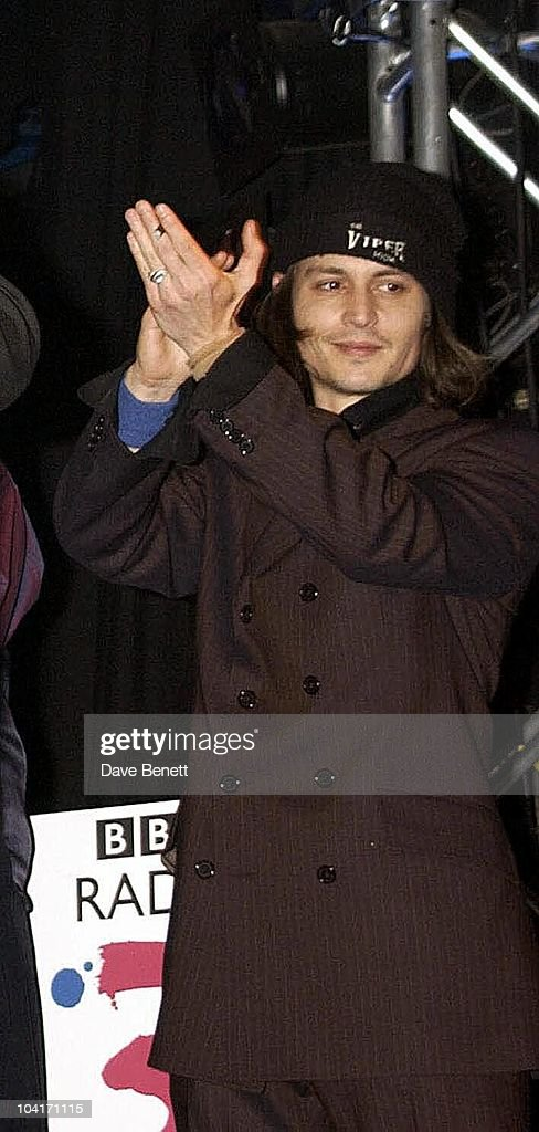 Johnny Depp Presented The Award For The Europe/middle East Category To Gypsy Band 'Taraf Dehaidouks', Bbc Radio 3 Awards For The World Music At 'Ocean' In Hackney, London, Bands From All Over The World Turned Up To Get Their Awards.
