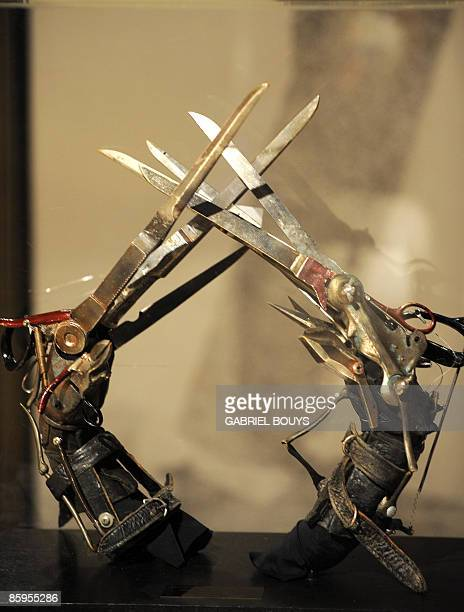 Johnny Depp's Edward Scissorhands owned by Michael Jackson are seen on display in Beverly Hills California April 13 2009 Thousands of items owned by...