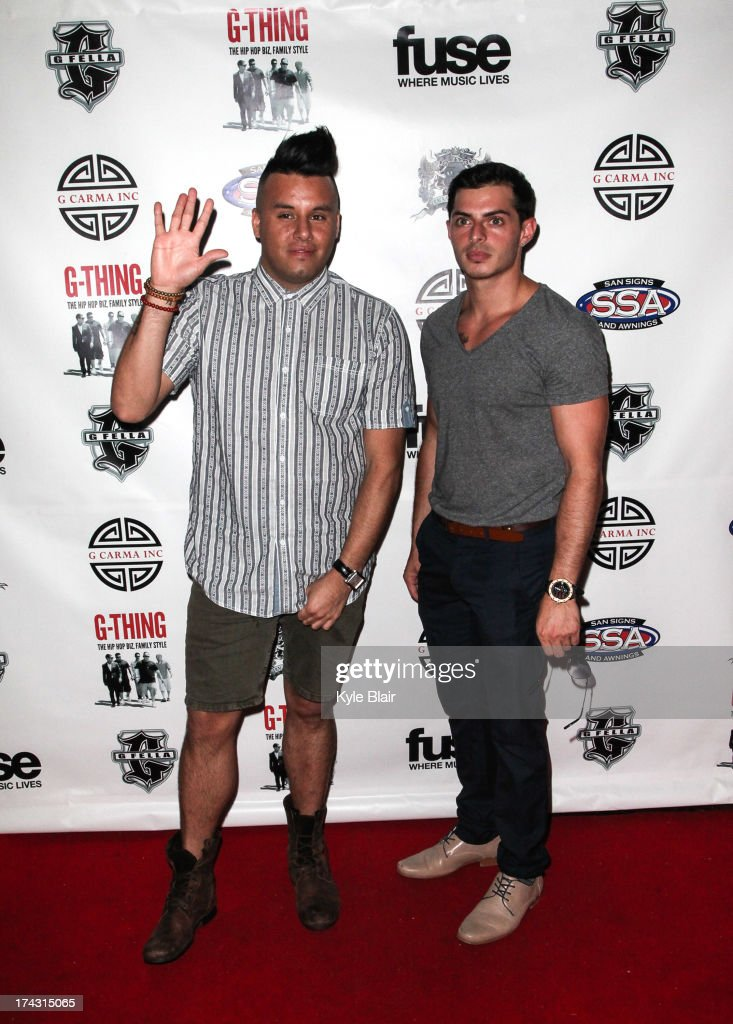 Johnny Donovan and Louis attend the 'G-Thing' Series Premiere Party at The Griffin on July 23, 2013 in New York City.