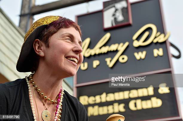 Johnny D's owner Carla DeLellis leads a Second Line Parade through Somerville's Davis Square and says goodbye to the thousands who turned out to say...