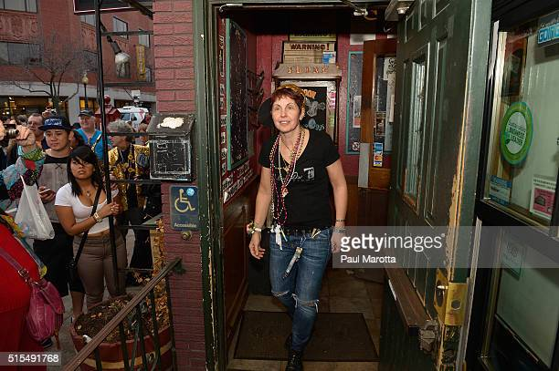 Johnny D's owner Carla DeLellis locks the door for the final time as Historic Blues Club Johnny D's Uptown Restaurant and Music Club plays it's last...