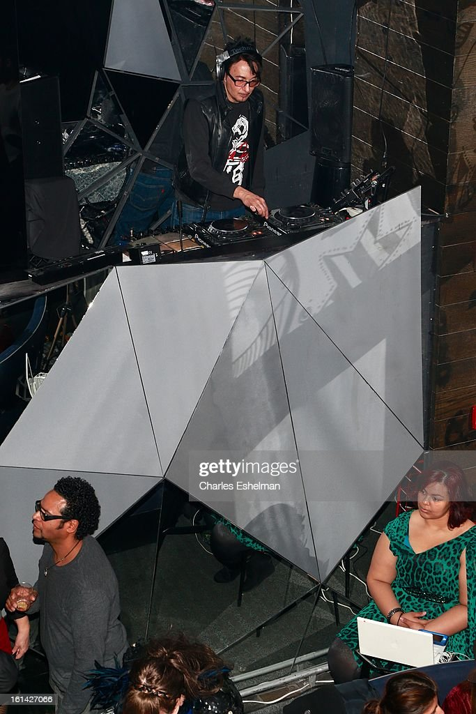DJ Johnny Dynell spins at the T @ Toy Party on February 10, 2013 in New York City.