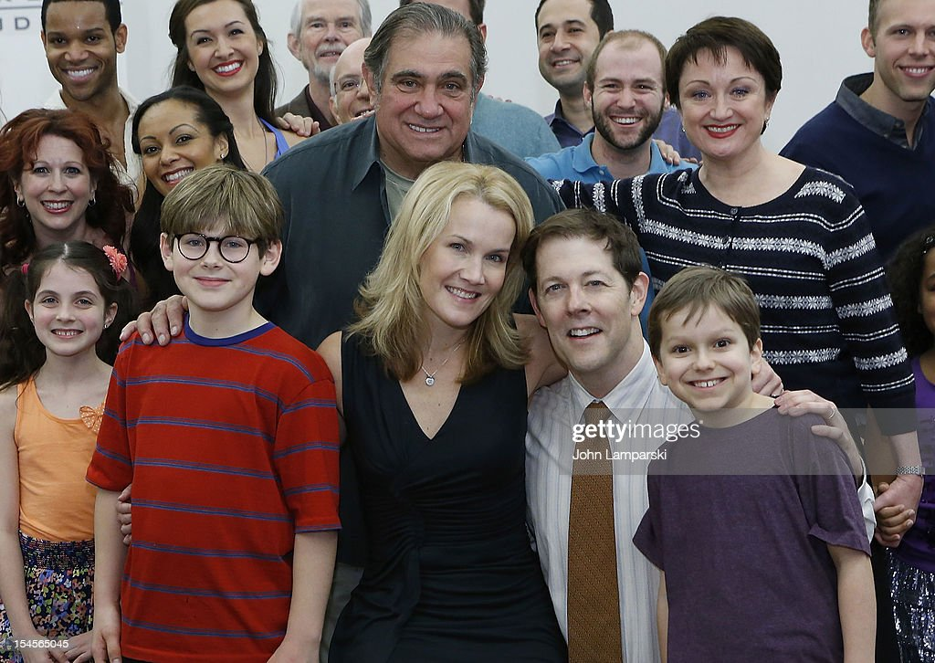 Johnny Erbe Dan Lauria Erin Dilly John Bolton Zac Ballard and Caroline O'connor attend the 'A Christmas Story The Musical' Press Preview at The New...