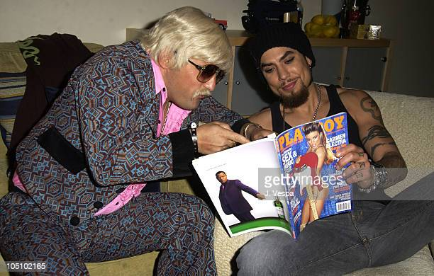 Johnny Fayva and Dave Navarro look at the new issue of Playboy featuring Carmen Electra