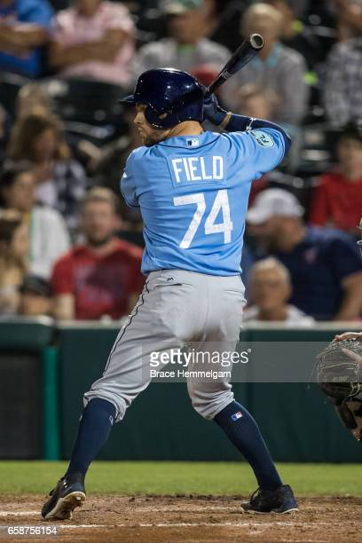 Johnny Field of the Tampa Bay Rays against the Minnesota Twins on February 24 2017 at the CenturyLink Sports Complex in Fort Myers Florida
