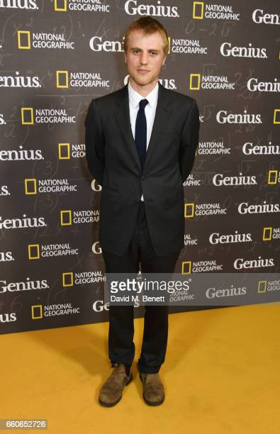 Johnny Flynn attends the London Premiere of the National Geographic Channel's 'Genius' at the Cineworld Haymarket on March 30 2017 in London United...