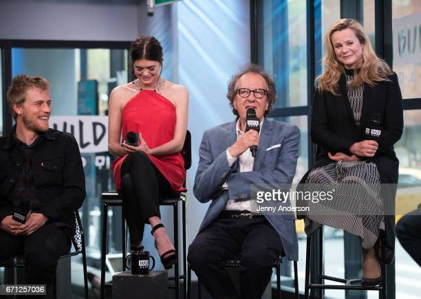 Johnny Flynn Samantha Colley Geoffrey Rush and Emily Watson attend AOL Build Series to discuss their new series 'Genius' at Build Studio on April 21...