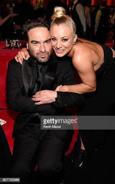 Johnny Galecki and Kaley Cuoco attend People and EIF's Annual Screen Actors Guild Awards Gala at The Shrine Auditorium on January 30 2016 in Los...