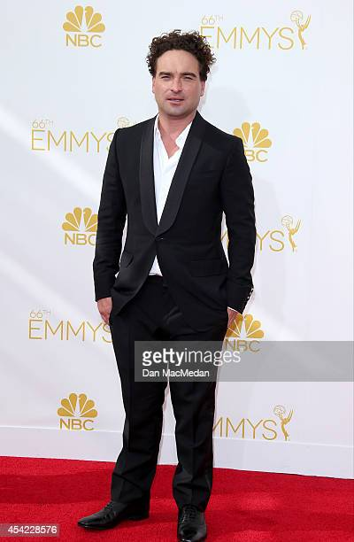 Johnny Galecki arrives at the 66th Annual Primetime Emmy Awards at Nokia Theatre LA Live on August 25 2014 in Los Angeles California