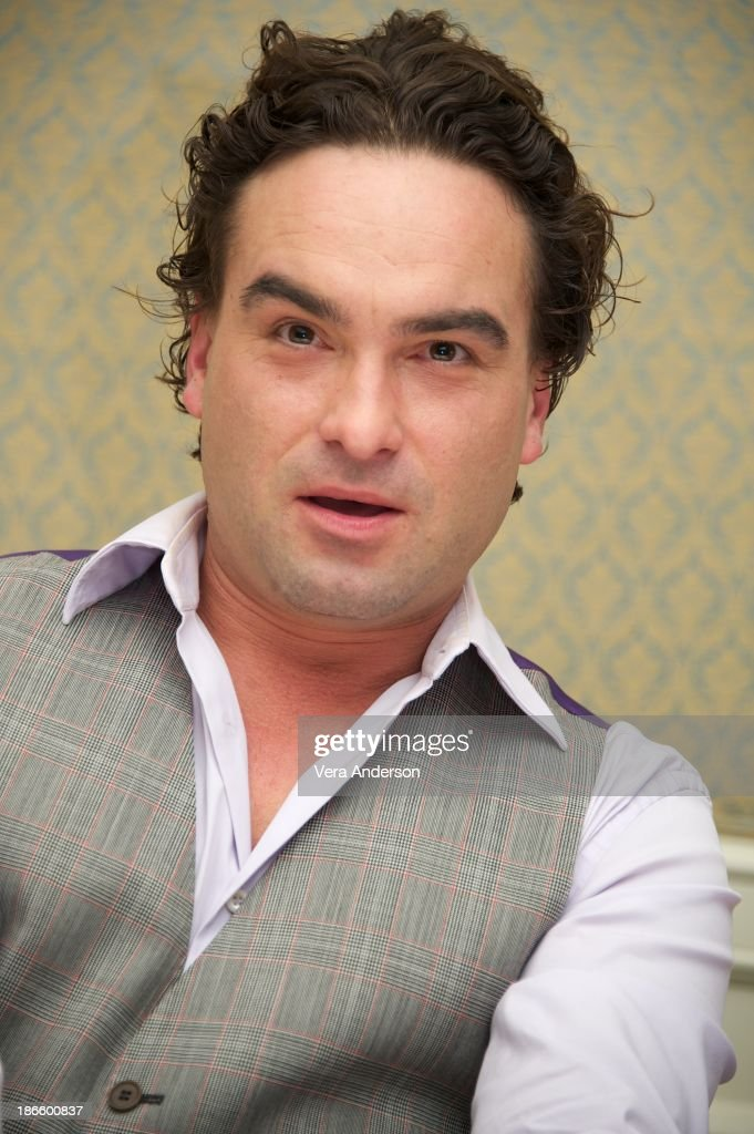 <a gi-track='captionPersonalityLinkClicked' href=/galleries/search?phrase=Johnny+Galecki&family=editorial&specificpeople=832098 ng-click='$event.stopPropagation()'>Johnny Galecki</a> at 'The Big Bang Theory' Press Conference at the Four Seasons Hotel on October 30, 2013 in Beverly Hills.