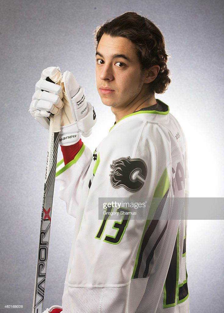 <a gi-track='captionPersonalityLinkClicked' href=/galleries/search?phrase=Johnny+Gaudreau&family=editorial&specificpeople=8953159 ng-click='$event.stopPropagation()'>Johnny Gaudreau</a> #13 of the Calgary Flames and Team Toews poses for a portrait prior to the 2015 Honda NHL All-Star Game at Nationwide Arena on January 25, 2015 in Columbus, Ohio.