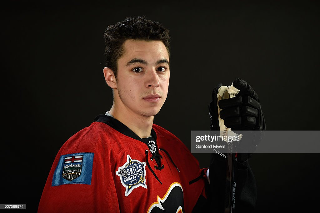 <a gi-track='captionPersonalityLinkClicked' href=/galleries/search?phrase=Johnny+Gaudreau&family=editorial&specificpeople=8953159 ng-click='$event.stopPropagation()'>Johnny Gaudreau</a> #13 of the Calgary Flames poses for a 2016 NHL All-Star portrait at Bridgestone Arena on January 30, 2016 in Nashville, Tennessee.