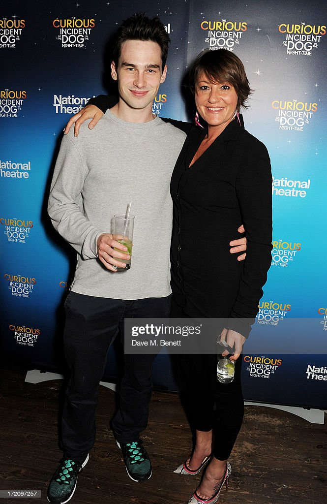 Johnny Gibbon (R) and guest attend an after party following 'A Curious Night at the Theatre', a charity gala evening to raise funds for Ambitious about Autism and The National Autistic Society, at Century Club on July 1, 2013 in London, England.
