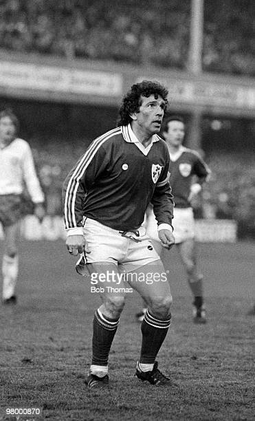 Johnny Giles in action for the Republic of Ireland during their European Championship Qualifying match against Denmark at Lansdowne Road in Dublin...