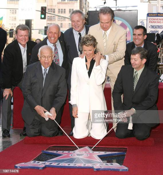Johnny Grant Annette Bening and Warren Beatty during Annette Bening Honored With Star on the Walk of Fame at Hollywood in Hollywood California United...