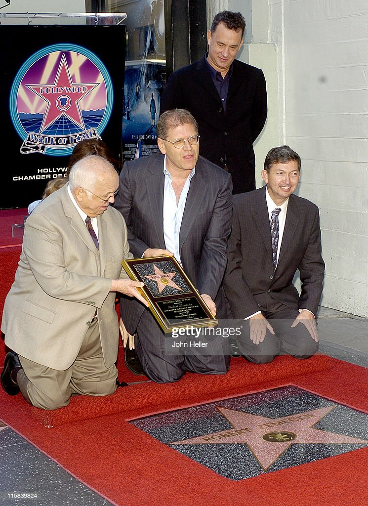 Johnny Grant Robert Zemeckis Leron Gubler and Tom Hanks