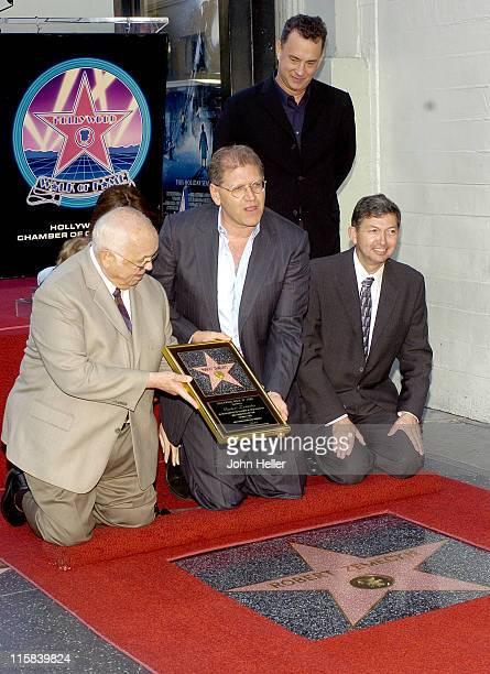 Johnny Grant Robert Zemeckis Leron Gubler and Tom Hanks