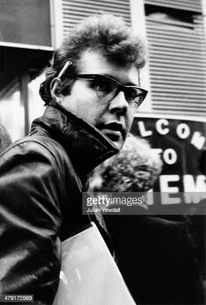 Johnny Green road manager of The Clash outside Cinema Blue in Dean Street Soho London following a press reception for the band's latest album release...