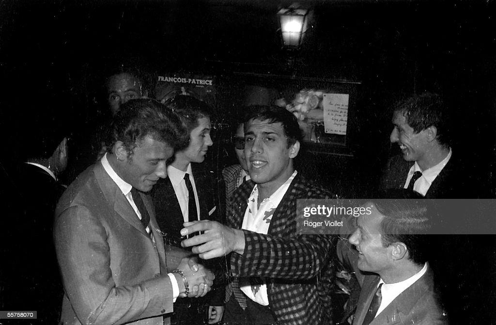 Johnny Hallyday and Adriano Celentano Paris Club SaintHilaire 1964 HA155840
