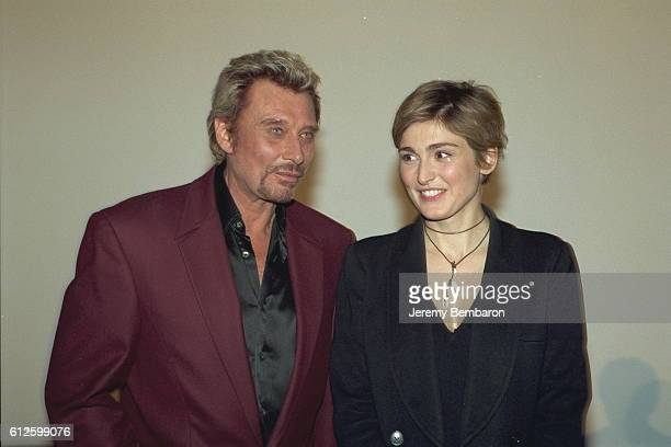 Johnny Hallyday and Julie Gayet costars of the movie at the UGC Cine Cite Bercy