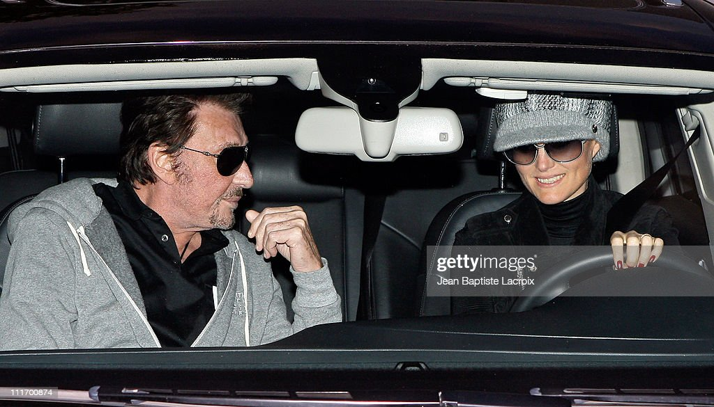 Johnny Hallyday and Laetitia Hallyday sigthing in Beverly Hills on December 5, 2009 in Los Angeles, California.